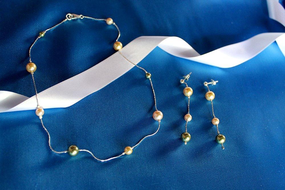 Collana e orecchini Trieste