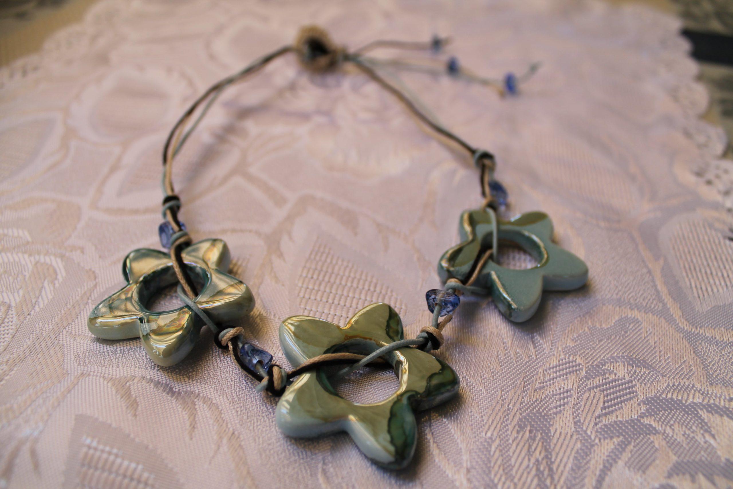 Collana con raku a forma di stella