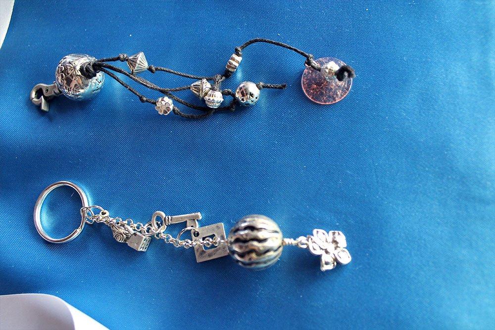 portachiavi in argento indiano